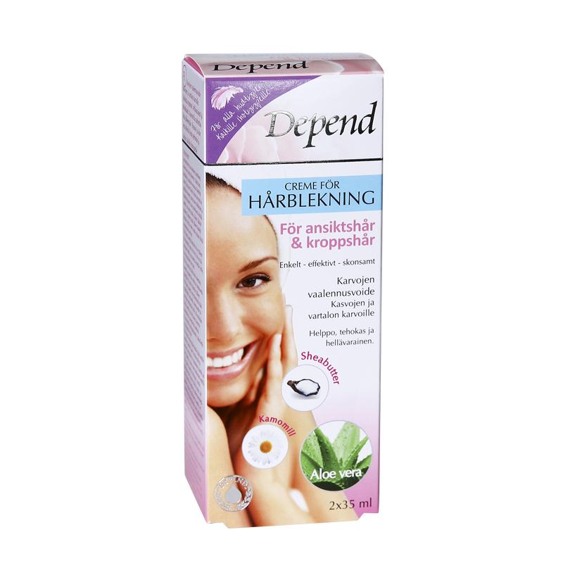 Creme för hårblekning – för ansiktshår & kroppshår