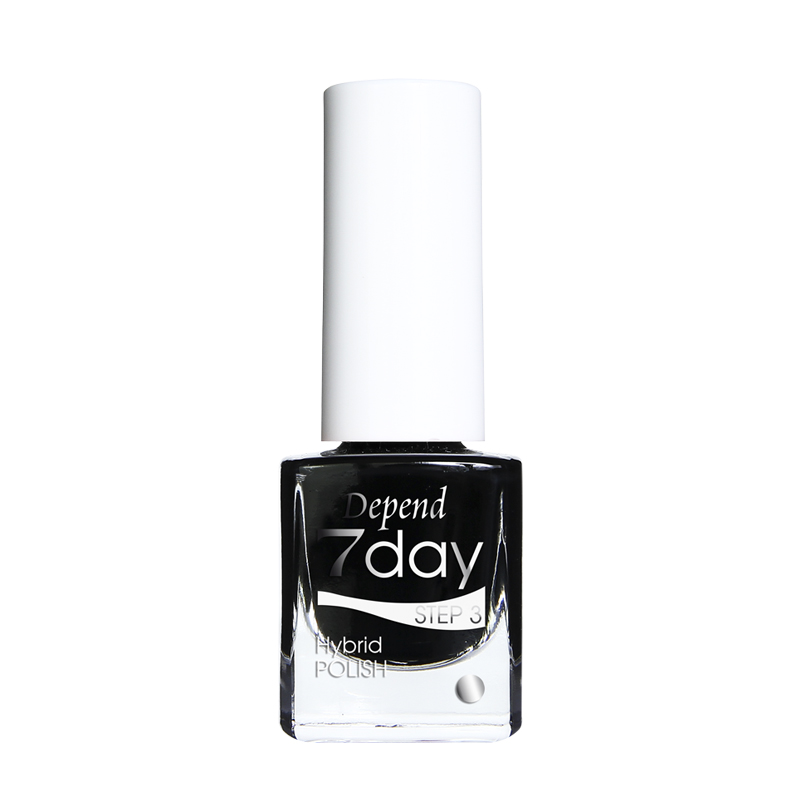 Depend 7day 29807013 Goth Black hybridlack nagellack gel feeling superglans