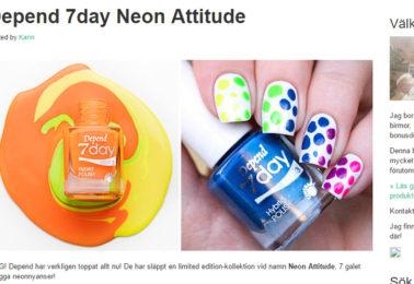 vacker-och-underbar-depend-7day-neon-attitude